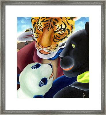 From Okin The Panda Illustration 8 Framed Print by Hiroko Sakai