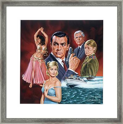 From Russia With Love Framed Print by Dick Bobnick