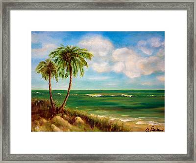 From The Beach Framed Print by Anne Barberi