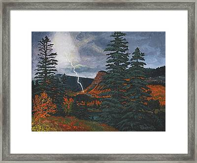 From The Heavens To Earth Framed Print by Timithy L Gordon