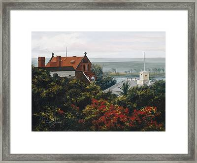 From The Holiday Inn - Key West Framed Print by Lucie Bilodeau