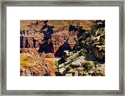 From Yaki Point 1 Grand Canyon Framed Print by Bob and Nadine Johnston