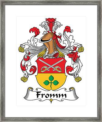 Fromm Coat Of Arms German Framed Print by Heraldry
