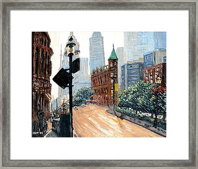 Front And Church Framed Print by Ian  MacDonald