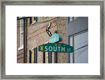 Front And South Street Sign Framed Print by Bill Cannon