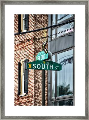 Front And South Streets Framed Print by Bill Cannon