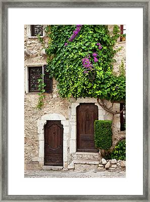 Front Doors To Homes In Ancient St Framed Print by Brian Jannsen