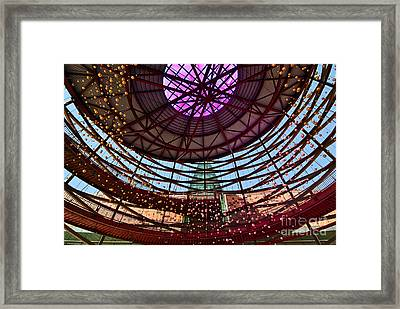 Front Entry Plaza Of The California Science Center In Los Angeles Framed Print by Jamie Pham