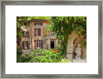 Front Entry To Chateau Roussan Framed Print by Brian Jannsen