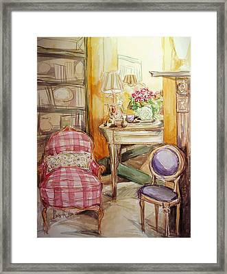 Front Of The Mirror Framed Print by Becky Kim