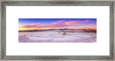 Front Range Sunrise Framed Print by Darren  White