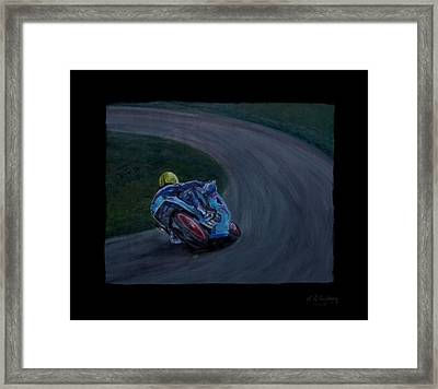 Front Runner Joey Dunlop Framed Print by Andrew Roy Thackeray