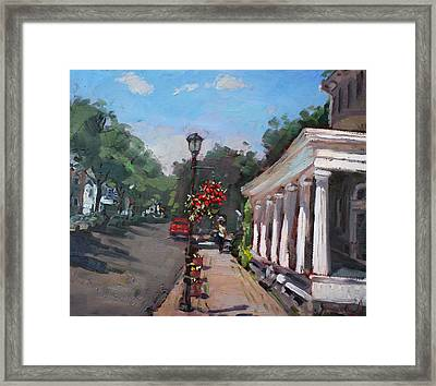 Frontier House In Lewiston  Framed Print by Ylli Haruni