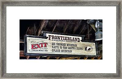Frontierland Sign Framed Print by Thomas Woolworth