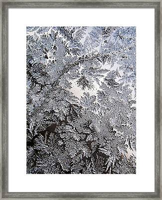 Frosted Glass Abstract Framed Print by Christina Rollo