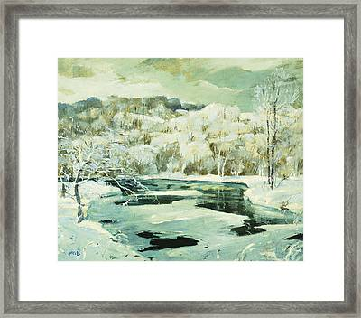 Frosted Trees Framed Print by Jonas Lie
