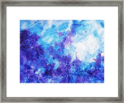 Frosted Window Abstract Iv Framed Print by Irina Sztukowski