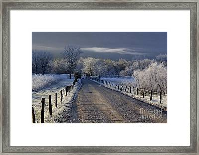 Frosty Cades Cove Hdr Framed Print by Douglas Stucky