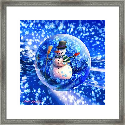 Frosty The Snowglobe Framed Print by Robin Moline