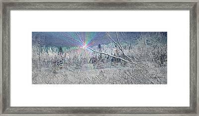 Frosty Window Distant Sun Framed Print by Hanne Lore Koehler
