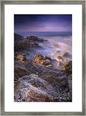 Frothy Coast Framed Print by Marco Crupi