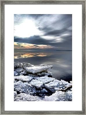 Frozen Chesapeake Framed Print by Olivier Le Queinec