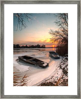 Frozen Couple Framed Print by Davorin Mance