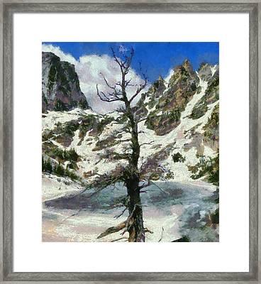 Frozen Framed Print by Dan Sproul