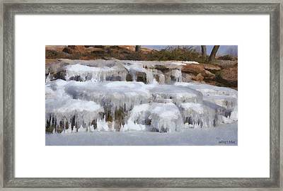 Frozen Falls Framed Print by Jeff Kolker