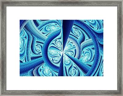 Frozen Fractal Framed Print by Anastasiya Malakhova