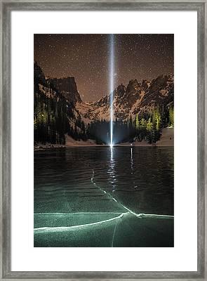 Frozen Illumination At Dream Lake Rmnp Framed Print by Mike Berenson