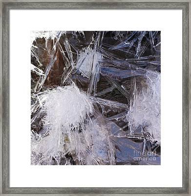 Frozen In Geometry Framed Print by Kenna Hillman