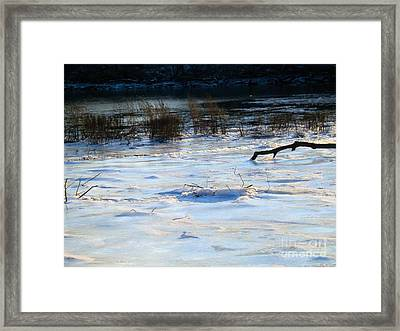 Frozen In Time -  Delaware River Series Framed Print by Robyn King