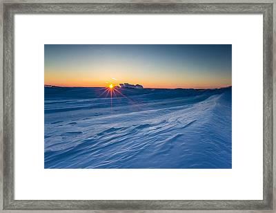 Frozen Lake Minnewaska Framed Print by Aaron J Groen