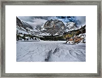 Frozen Loch Vale Framed Print by Steven Reed
