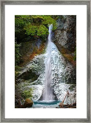 Frozen Marymere Falls Framed Print by Inge Johnsson
