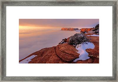 Frozen Mesa Framed Print by Chad Dutson