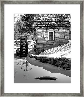 Frozen Mill Framed Print by Thomas Young