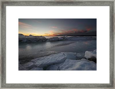 Frozen Missouri Framed Print by Aaron J Groen
