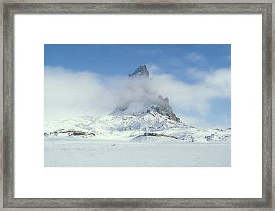 Frozen Peak 1001 Framed Print by Brent L Ander