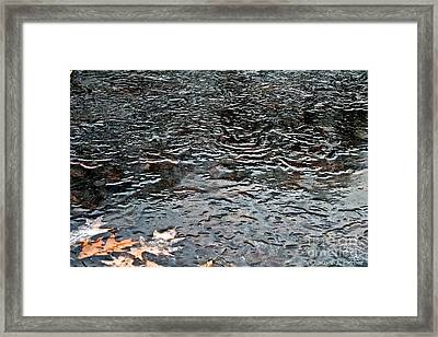 Frozen Ripples Framed Print by Susan Herber
