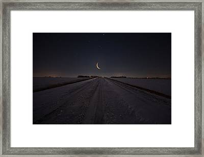 Frozen Road To Nowhere Framed Print by Aaron J Groen