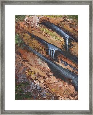 Frozen Seep Framed Print by William Killen