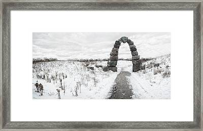 Frozen Stone Arch Framed Print by Scott Norris