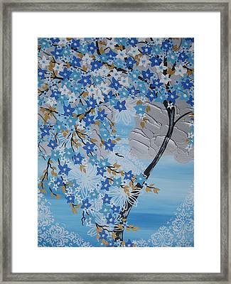 Frozen Tree Framed Print by Cathy Jacobs