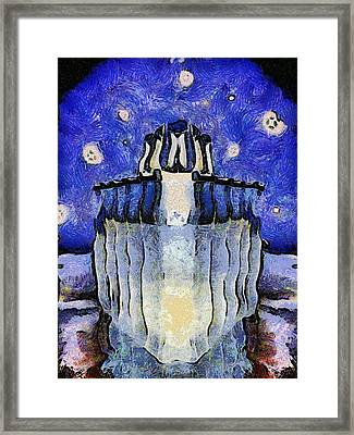 Frozen Vessel Framed Print by Wendy J St Christopher