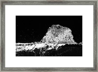 Frozen Water Of A Fountain - Black And White Abstract Framed Print by Matthias Hauser