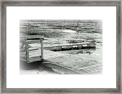 Frozendock 001 Okanagan Lake Penticton Framed Print by Guy Hoffman
