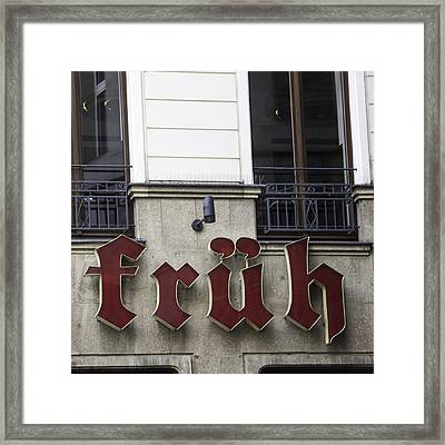 Fruh Am Dom Brauhaus Cologne Germany Framed Print by Teresa Mucha