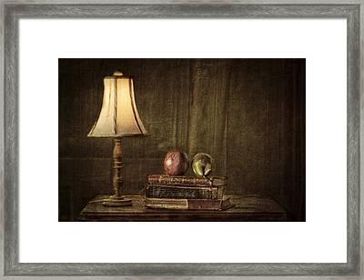 Fruit And Books Framed Print by Erik Brede